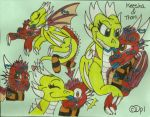 PC: Keesha and Thorn Doodle Page -BX- by dragonpop1