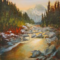 Canmore Creek by artistwilder
