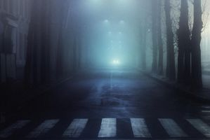 Foggy road by dammmmit