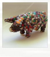 Bead Midden Pig by hogret