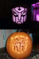 Autobot Symbol Pumpkin Carving by Kittylover9399