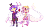 Comm :: Chibi Trainers by KeIdeo