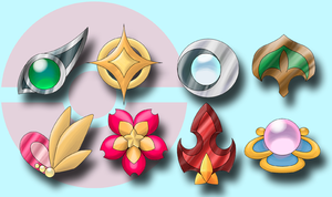 Gym Badges of Lemuria by Sakuyamon