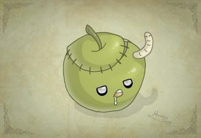 Zombie Apple by MySweetQueen