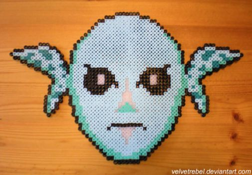 Zora Mask - Perler Beads by VelvetRebel