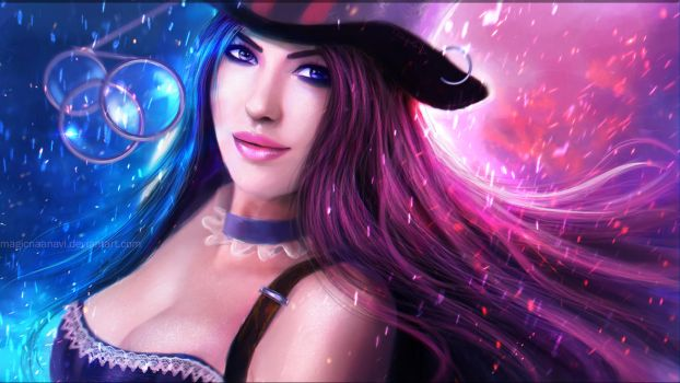 Caitlyn - League of Legends by MagicnaAnavi