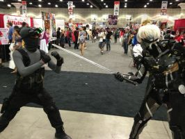 Sam Fisher vs Raiden by W4RH0US3