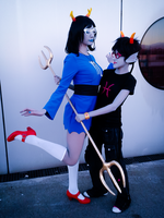 Gillfronds - Meenah and Aranea cosplay by Kenoma