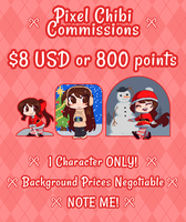 Pixel Commissions -CLOSED- by RileyAV
