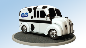 Milk Truck Turntable by Cymae