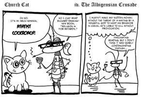 Comic Abortion: Church Cat 4 by Galago