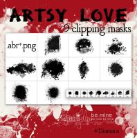 ArtsyLove ClippingMasks by Diamara