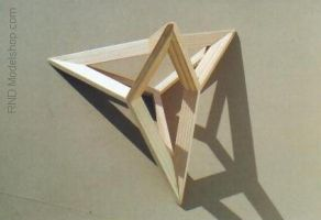 4 Stellated Tetrahedron model by RNDmodels