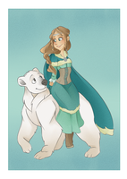 The Girl and the Bear by VioletKy