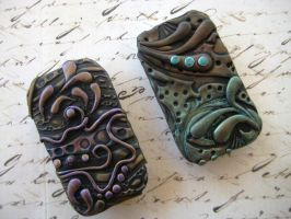 Artsy Polymer Clay Tins by RoyalKitness