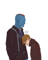 Yondu and young Peter by pencilHead7