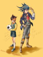 Color_Fudou and Endou by Koret-Sirsep