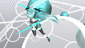 MMD Lat P Cyber Miku Ver 3 by Xenosnake