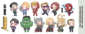Avengers Chibi Set by SiliceB