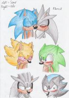 My fav Sonic Yaoi Couples 2 by Fire-For-Battle