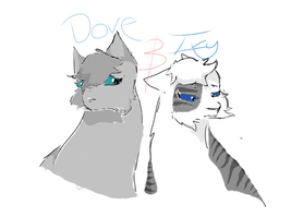 Warrior Cats Fanart Ivypool and Dovewing by Nixillator608