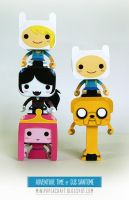 Adventure Time mini papercraft by Gus-Santome
