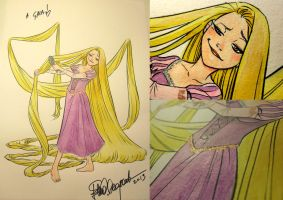 Rapunzel Commission by elena-casagrande