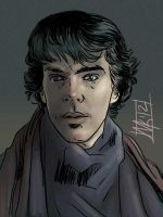 Youngish Sherlock by semie