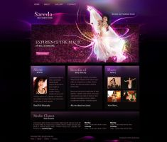 Belly Dance Studio Web Design by ElenaSham