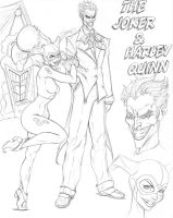 Joker and Harley Quinn CD sk001 by nathanscomicart