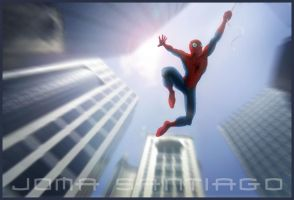 spidey in action by joma33