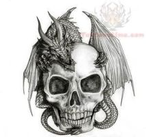 Trendy-skull-tattoo-design 3 by Thefreerunner1995