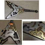 Steampunk Flying V guitar in progress by Woolf83