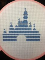 Disney Castle X Stitch by geek-stitch