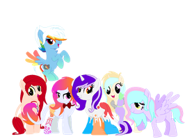 My Mane 6 by sparkIinq