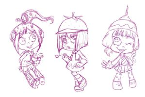 Sugar Rush Sketches by TehChibiHatter
