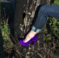 Heels and Nature -Purple by TheSplitGemini