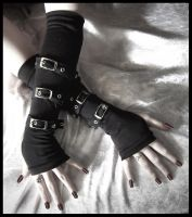 Buckled Up Bondage Arm Warmers by ZenAndCoffee
