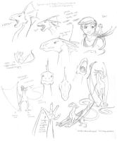 Wyvern sketches by AmyClark