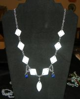 Shell Diamond Necklace by ydoc16