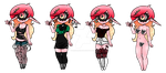 Aerilaya Outfits by PureHorrorBliss