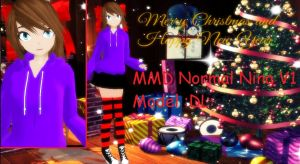 MMD Normal nina  V1 model :DL: by mokathekiller