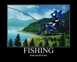 Fishing Motivational Poster by krawky398