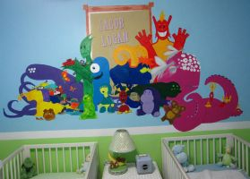 Baby Room Mural by Myndtwitch