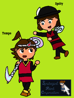 Tempo And Sprity Doodle Coloured by SpriteGirl