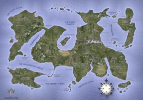 MARETA - Fantasy Map by samsunlobe
