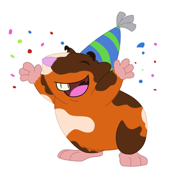 Party Guinea Pig by Sloth-Power