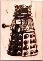 Pyrography - Dalek by naaxha