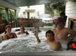 Me and my friends in a hot tub at a friend's house by Laseralphacanine