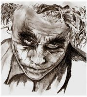 The Joker Heath ledger by Lillithmorgain